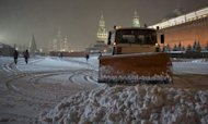 Moscow Hit By Biggest Snowfall In 50 Years