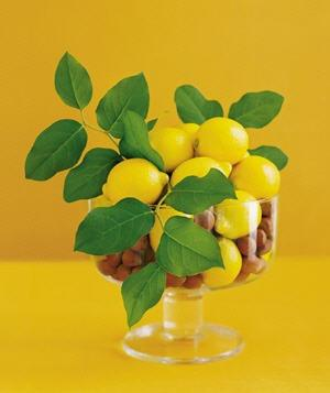 Lemon as Table Decoration