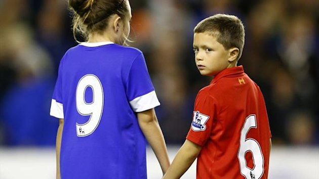 Everton's mascots formed part of the tribute (PA Photos)