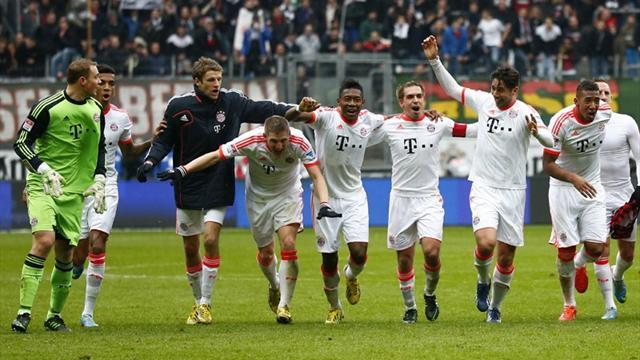 Bundesliga - Bayern Munich seal fastest ever title after win over Frankfurt