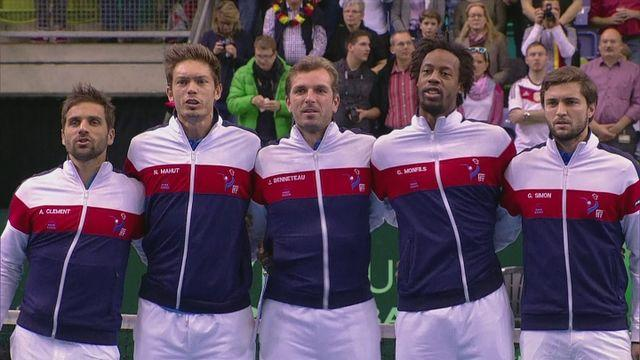 Simon wins first round of Davis Cup
