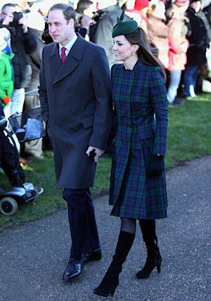 "Kate Middleton Looks Pretty in Tartan Coat at Christmas Service, Says Prince George Had ""Lovely"" First Holiday"
