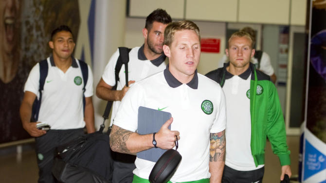 Soccer - Celtic Arrive back at Glasgow Airport