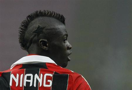 M'baye Niang looks on during a soccer match in Milan January 20, 2013. REUTERS/Alessandro Garofalo