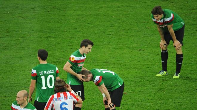 Players Of Athletic Bilbao React AFP/Getty Images