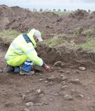 The team unearthed the imprints of giant boulders that had been removed long ago.