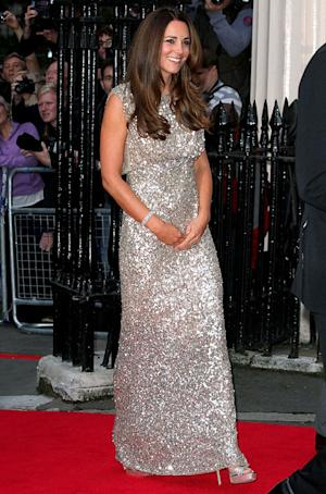 Kate Middleton Slim, Gorgeous in Custom Dress at First Official Event Post-Baby