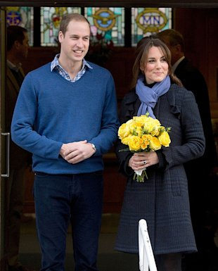 Proud new parents Prince William and Kate Middleton.
