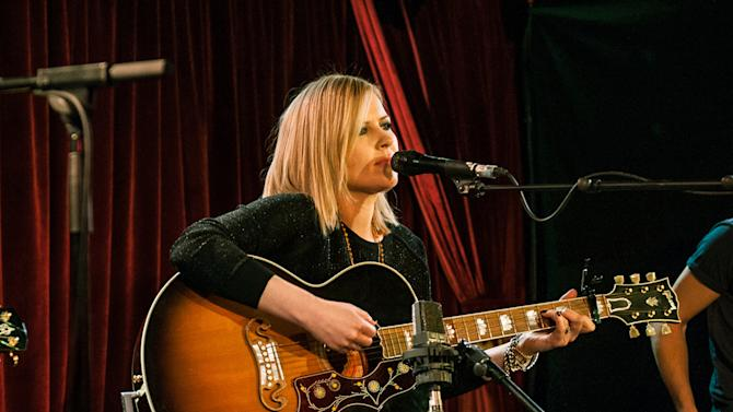 """This 2013 image released by RCA shows musician Dido performing in London. Dido's latest album, """"Girl Who Got Away,"""" was released on Tuesday, March 26. (AP Photo/RCA, Chris Lopez)"""