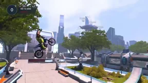 Park n' Ride - Game, Set, and Match - Trials Fusion Secret - Gameplay