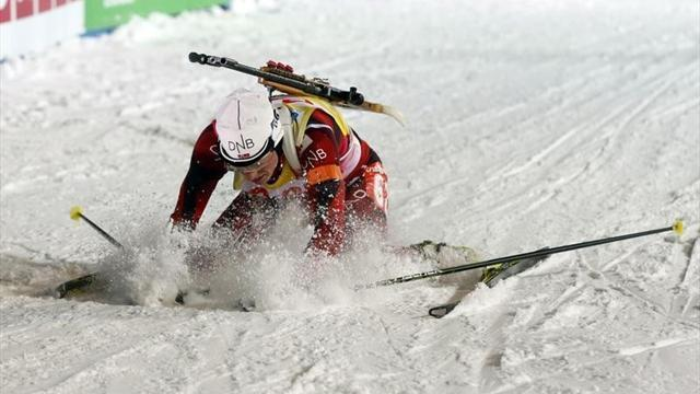 Biathlon - Berger storms to third gold in Nove Mesto