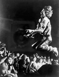 Mick Jagger, lead singer of the Rolling Stones, performs in Atlanta in 1978. The Stones launch a photographic exhibition Thursday marking 50 years since their first gig, as guitarist Keith Richards said the veteran British rock band had been rehearsing again