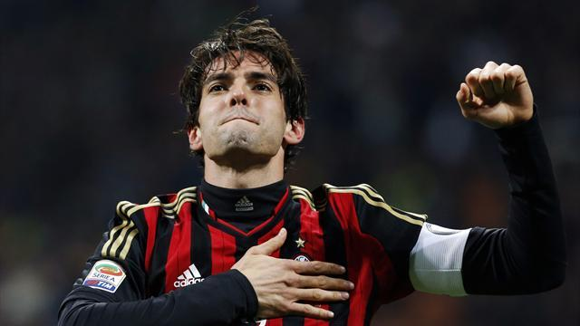 Serie A - Kaka scores twice in 300th game as Milan crush Chievo