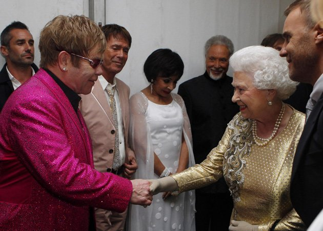 Elton John, Queen, backstage, Diamond Jubilee Concert