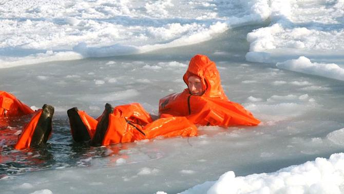 Prince Harry Swims In Arctic
