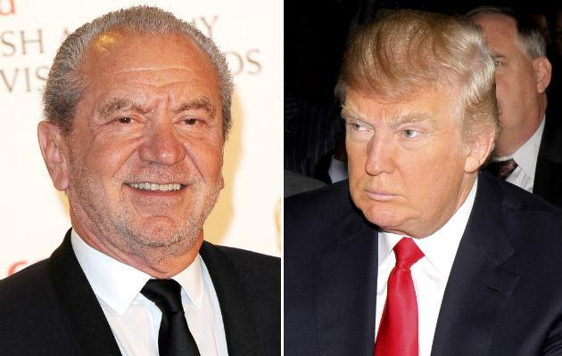 Sugar and Trump... Apprentice stars clash on Twitter (Copyright: Rex)