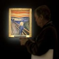 Edvard Munch's 'The Scream' at Sotheby's on April 27, 2012 in New York