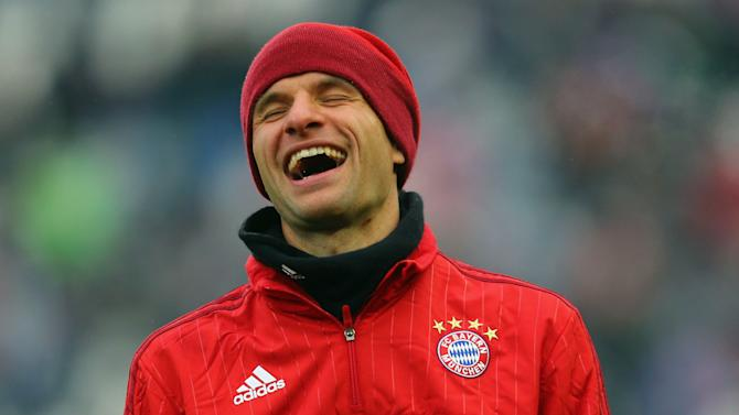 Talk of Bayern rift amusing and annoying for Muller