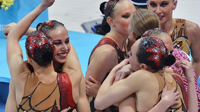 Russia claim fourth Olympic synchro sweep