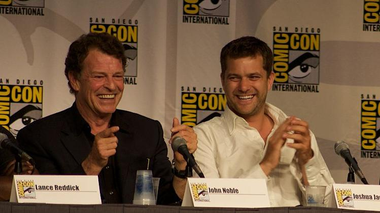 """Fringe"" Panel. Actors John Noble and Joshua Jackson at San Diego 2010 Comic-Con International."
