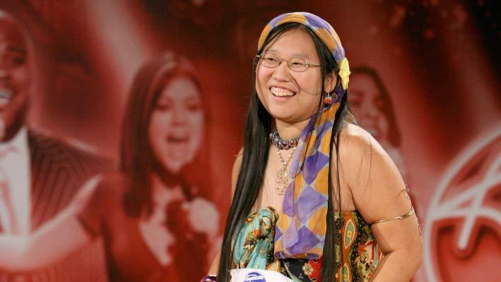 "Diana Kim on the ""Hollywood or Bust"" episode of American Idol."