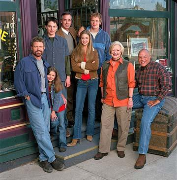 """Treat Williams as Dr. Andrew Brown, Vivien Cardone as Delia Brown, Gregory Smith as Ephram Brown, Tom Amandes as Dr. Harold Abbott, Emily Van Camp as Amy Abbott, Chris Pratt as Bright Abbott, Debra Mooney as Edna Wallace and John Beasley as Irv Wallace The WB's """"Everwood"""" Everwood"""