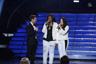 Candice Glover and Kree Harrison at the 'American Idol' Season 12 Grand Finale at the Nokia Theater L.A. Live, May 16, 2013 -- FOX