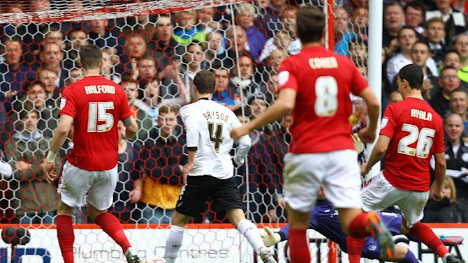 Craig Bryson (centre) hit the only goal to give Derby victory over Nottingham Forest