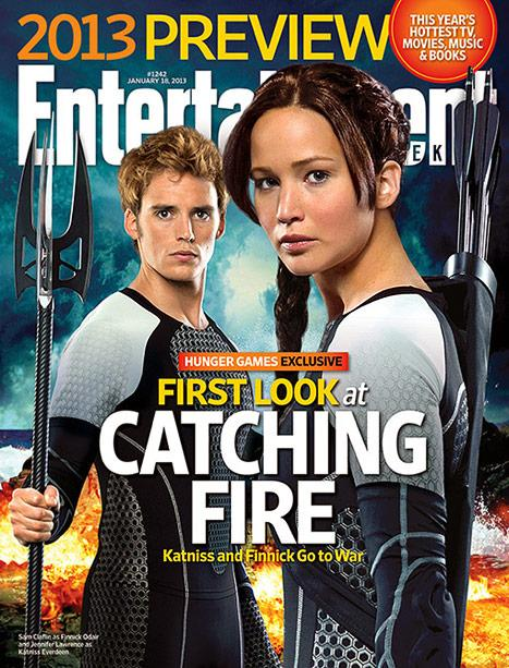 The Hunger Games: Catching Fire: First Look at Jennifer Lawrence as Katniss and Sam Claflin as Finnick in Highly Anticipated Sequel