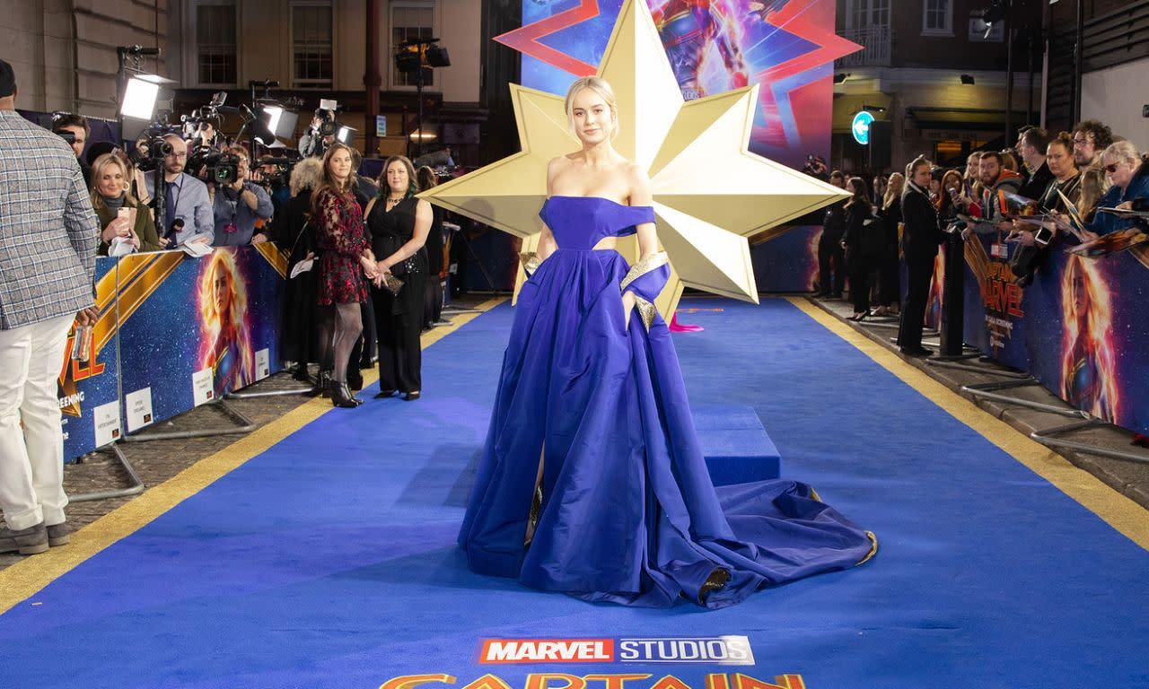 <p>布麗拉森於英國時間2019年2月27日出席了在英國倫敦舉辦的《驚奇隊長》首映。(圖/StillMoving.net for Disney) </p>