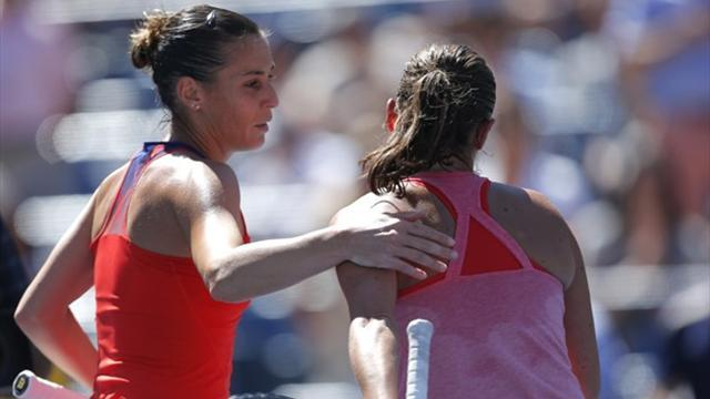 US Open - Pennetta proud of hard climb to last four