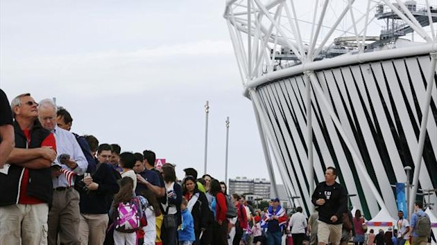 Fans queue at Olympic Park