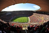 File photo from June 14, 2010 of the World Cup match The Netherlands against Denmark at Soccer City Stadium in Soweto, suburban Johannesburg. Soccer City Stadium will be one of the five stadiums to host matches of the 2013 Africa Cup of Nations between January 19 and February 10, 2013