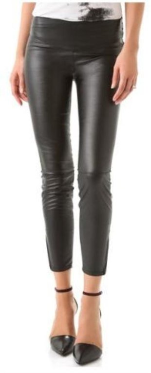Blank Denim Leather Legging $88