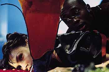 Famke Janssen and Taye Diggs in Warner Brothers' House On Haunted Hill