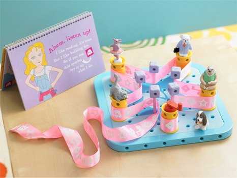 GoldieBlox is a construction toy + book series starring Goldie, the girl inventor who loves to build. (Kickstarter.com)