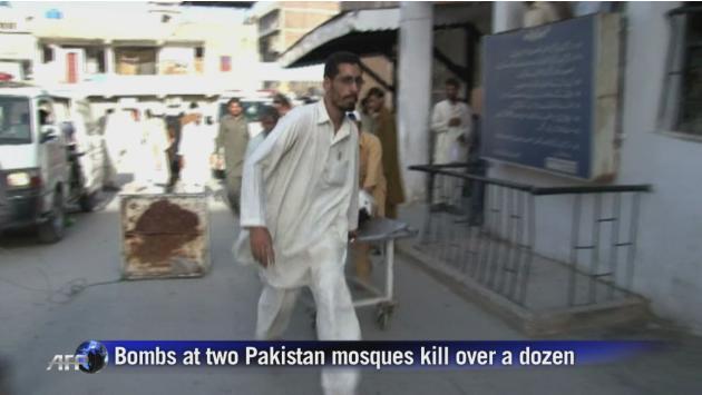 Pakistan mosque bombs kill 13: officials