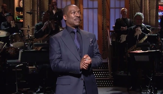 Eddie Murphy Rejected Offer to Play Cosby on 'SNL 40,' Says Norm Macdonald