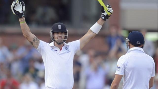 Ashes - Pietersen hits century before late wickets halt England recovery
