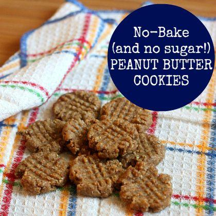 No-Bake (and No Sugar!) Peanut Butter Cookies