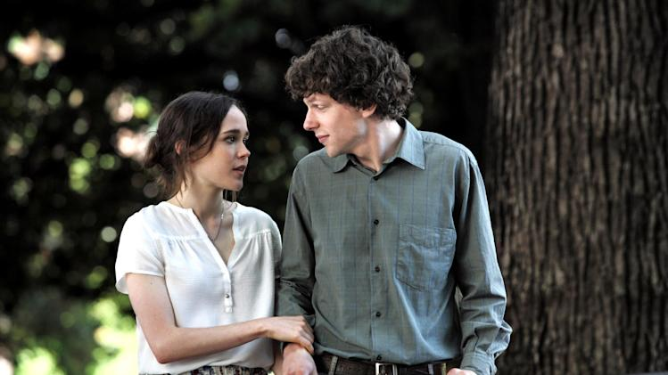 "This film image released by Sony Pictures Classics shows Ellen Page as Monica, left, and Jesse Eisenberg as Jack in a scene from ""To Rome With Love.""  (AP Photo/Sony Pictures Classics, Philippe Antonello)"
