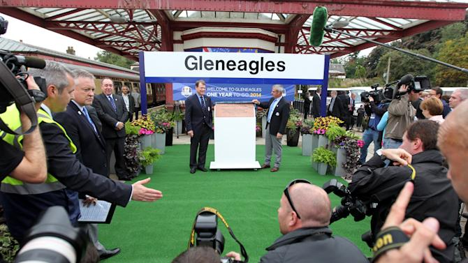 Golf - 2014 Ryder Cup Year to Go Celebrations - Day One - Gleneagles Station