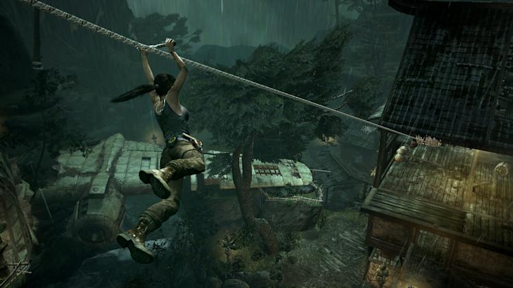 "This publicity photo released by Crystal Dynamics/Square Enix shows a scene from the video game, ""Tomb Raider."" (AP Photo/Crystal Dynamics/Square Enix)"