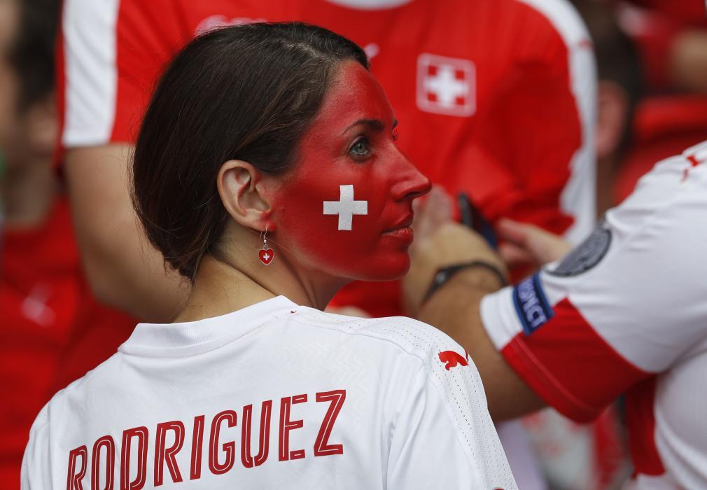 Switzerland fan before the match