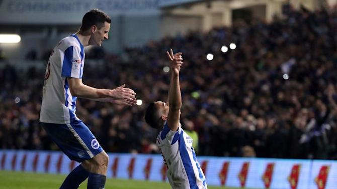 Brighton beat Reading to top Championship standings as Newcastle are held by Bristol City