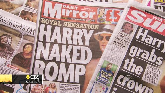 British newspaper publishes nude Harry photos