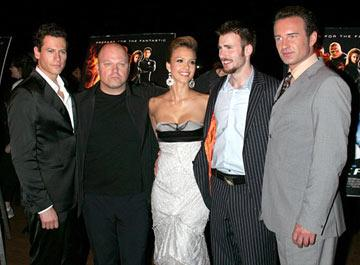 Premiere: Ioan Gruffudd,Michael Chiklis, Jessica Alba, Chris Evans and Julian McMahon at the New York premiere of 20th Century Fox's Fantastic Four - 7/6/2005