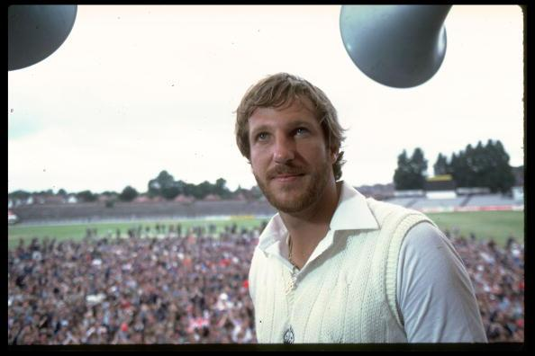 Jul 1981:  A portrait of Ian Botham of England after his historic performance in the third test match against Australia at Headingley. Botham hit an innings of 149 not out and took seven Australian wi