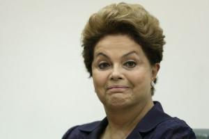Rousseff reacts during the graduation ceremony of new diplomats at the Itamaraty Palace