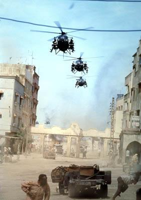 American troops arrive in Mogadishu in Columbia's Black Hawk Down